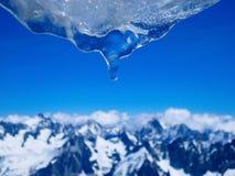 Bleu glacier Images libres de droits