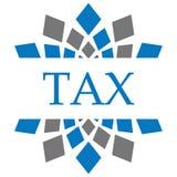 Bleu Grey Circular Background d'impôts Photo libre de droits