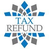 Bleu Grey Circular Background de remboursement d'impôt fiscal Images libres de droits
