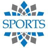 Bleu Grey Circular Background de sports Photos libres de droits