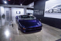 Bleu Jaguar 1992 XJ220 Photo libre de droits