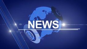 Bleu 4K générique de fond d'actualités de globe banque de vidéos