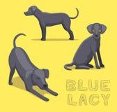 Bleu Lacy Cartoon Vector Illustration de chien Image libre de droits