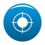 Bleu lointain d'icône de cible illustration de vecteur
