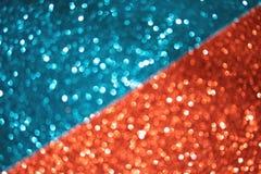 Bleu mélangé magique et contexte brouillé rouge photo libre de droits