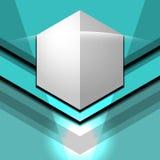 Bleu moderne géométrique Photos libres de droits