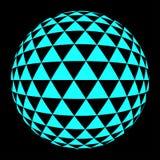 Bleu moyen de trianlgle rond Photos stock