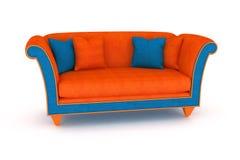bleu orange de sofa Illustration Stock