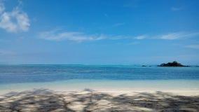 BLEU-overzees punt Mauritus vakantie Stock Foto