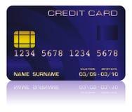 Bleu par la carte de crédit illustration stock
