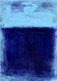 Bleu peint abstrait Images libres de droits