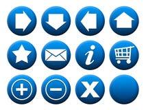 Bleu réglé de bouton illustration libre de droits