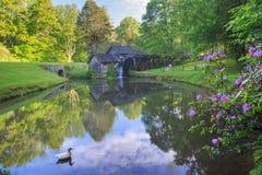 Bleu Ridge Parkway Virginia de moulin de Mabry image libre de droits
