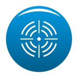 Bleu rond d'icône de cible illustration libre de droits