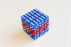 Bleu rouge aléatoire de jeu de jeu de matrices image stock