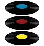 Bleu rouge de disque de longue pièce de disque d'album record de lp de vinyle Images stock