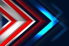 Bleu rouge de fond abstrait Images libres de droits