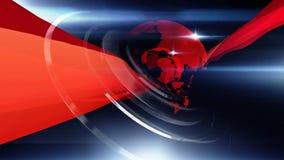 Bleu rouge de fond du monde illustration de vecteur
