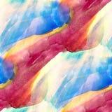 Bleu sans couture d'aquarelle de photo d'art de lumière du soleil, illustration libre de droits
