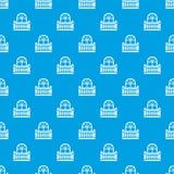 Bleu sans couture de balcon de vecteur panoramique de modèle illustration stock