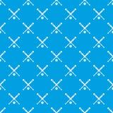 Bleu sans couture de modèle de batte de baseball et de boule Photographie stock