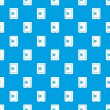 Bleu sans couture de modèle de compartiment de coffre-fort illustration de vecteur