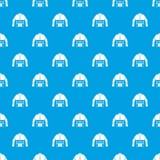 Bleu sans couture de modèle de veste de sapeur-pompier illustration stock