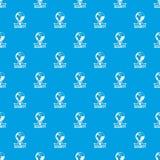 Bleu sans couture de protection des données de vecteur global de modèle illustration de vecteur