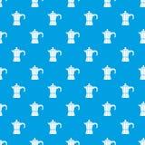 Bleu sans couture de rétro de café modèle en acier de pot illustration stock