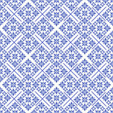 Bleu sans couture de sabot de Noël Photos libres de droits