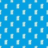 Bleu sans couture de vecteur de modèle de baril illustration stock