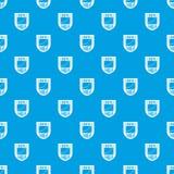 Bleu sans couture de vecteur de modèle de bouclier de données illustration de vecteur