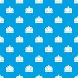 Bleu sans couture de vecteur de modèle de couronne d'empire illustration libre de droits