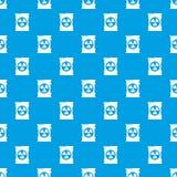 Bleu sans couture de vecteur de modèle de danger de baril illustration de vecteur