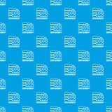Bleu sans couture de vecteur de modèle de protection des données illustration stock