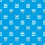 Bleu sans couture de vecteur de modèle de protection des données de serveur illustration libre de droits