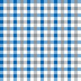 Bleu sans couture de vintage et texture de Grey Checkered Fabric Pattern Background illustration libre de droits