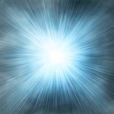 Bleu simple de projecteur sur le fond de brouillard enfumé illustration libre de droits