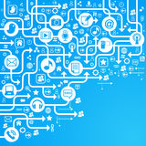 Bleu social de réseau de fond Images libres de droits