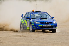 Bleu Subaru Impreza on rally Stock Image