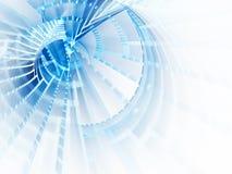 Bleu sur le fond abstrait blanc Images stock