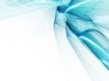 Bleu sur le fond abstrait blanc Illustration Libre de Droits