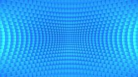 Bleu tordu abstrait de fond de boîte illustration libre de droits