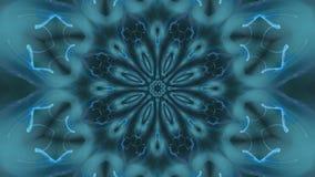 Bleu tournant l'animation de bouclage starlike illustration libre de droits