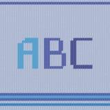 Bleu tricoté d'ABC Image libre de droits