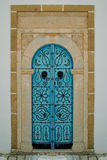 Bleu Tunisian Door and door knockers Royalty Free Stock Photography