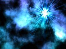 Bleu une étoile. Photos stock
