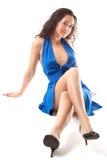 Bleu voyant Photographie stock libre de droits
