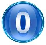 Bleu zéro d'icône de nombre Images libres de droits