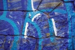 Bleue Graffiti Stockfotografie